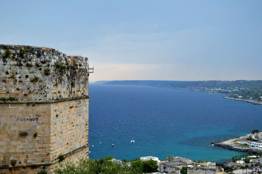 Bay Of Water Beauty In Nature Blue Built Structure Castle Castromarina Coastline Day Fort High Angle View Horizon Over Water Mediterranean Sea Nature Non-urban Scene Ocean Outdoors Scenics Sea Seascape Shore Sky Town Tranquil Scene Tranquility Water