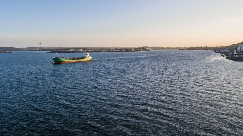Beach Boat Boats Building Cathedral Cobh Cork Day Drone  Dronephotography Droneshot Harbor Harbour Ireland Irish Nature No People One Person Outdoors Ship Sky Sunset Town Water Waterfront