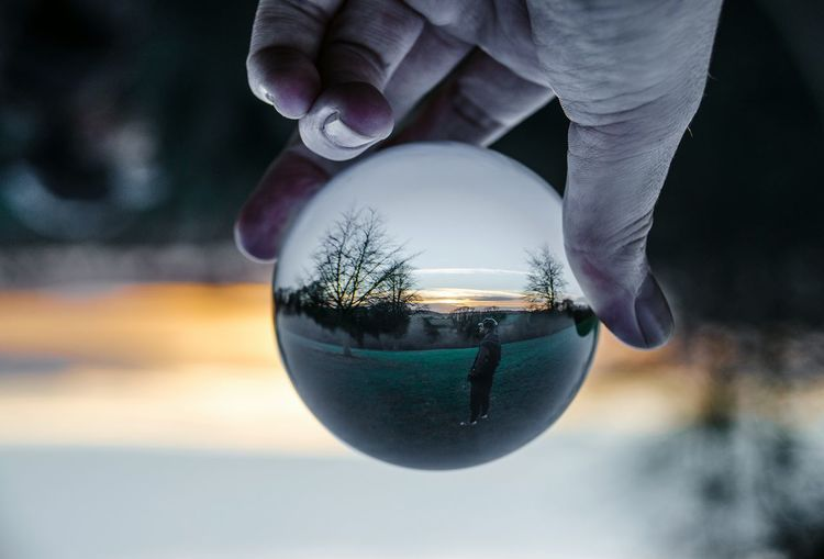 Trapped. Crystal Ball Muted Colors Tones Toneseekers Sunset Nikon D5100  Nikon Moody Sky Moody Alucyart Through The Crystal Ball Upside Down Moody Skies  The Photojournalist - 2016 EyeEm Awards Visual Stories Storytelling Fresh On Eyeem  The Magic Mission