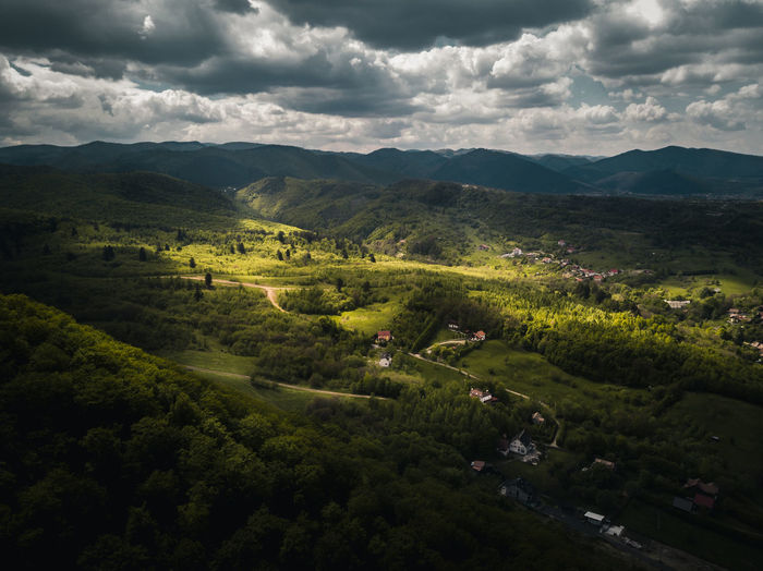 A Tale About Light Cloud - Sky Scenics - Nature Beauty In Nature Environment Landscape Sky Tree Tranquil Scene Mountain Plant Tranquility Nature High Angle View No People Day Non-urban Scene Growth Land Green Color Outdoors Drone  Aerial View Aerial Mavic Air Flying Above Sibiu Romania Transylvania Mountain Range Green Color Forest Fresh Morning Summer Explore Discover  Travel Destinations EyeEm Best Shots EyeEmNewHere EyeEm Selects EyeEm Nature Lover EyeEm Gallery