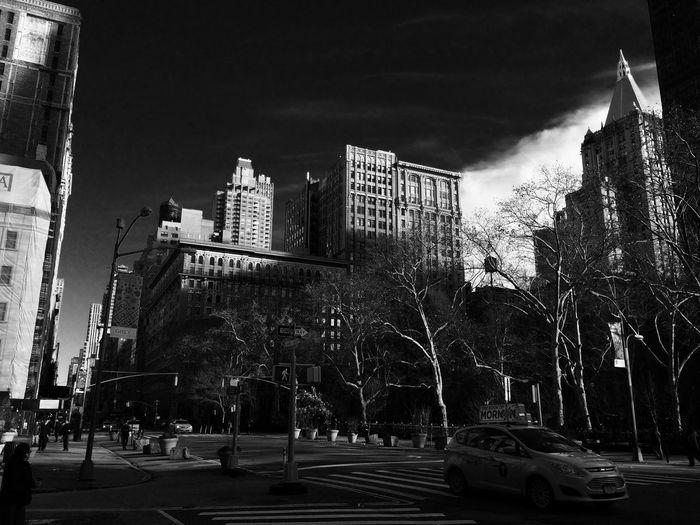 Street New York Town Blackandwhite Cityscapes