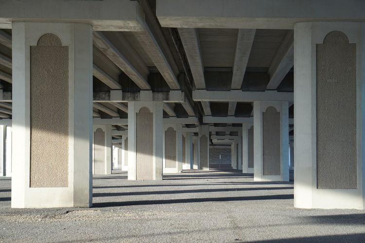 Road Below Bridge