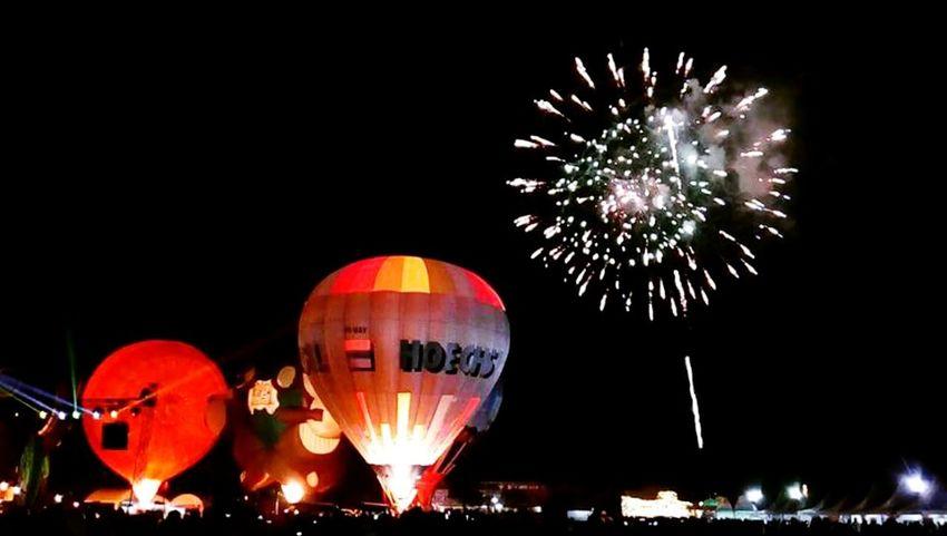Hot Air Balloons Fiesta Penang Malaysia Firework Mood