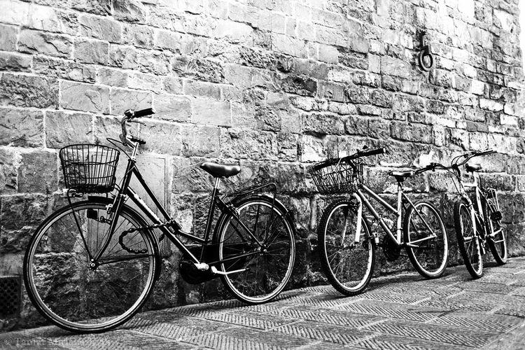 Analogue Photography Architecture Bicycle Film Photography Florence Ilford Italy Land Vehicle Nikon F3 Outdoors Street Photography The Street Photographer - 2016 EyeEm Awards Transportation Walk In Florence Welcome To Black The Street Photographer - 2017 EyeEm Awards