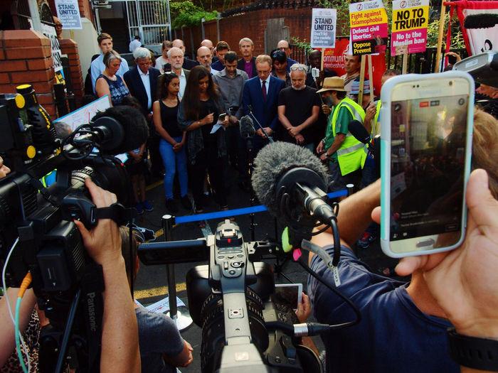 Vigil: No to Islamophobia-Unity with Finsbury Park Mosque. London. 20-06-17 British Politics Finsbury Park Attack Finsbury Park Mosque Jeremy Corbyn Jeremy Corbyn London News Olympus Photojournalism Steve Merrick Stevesevilempire Zuiko