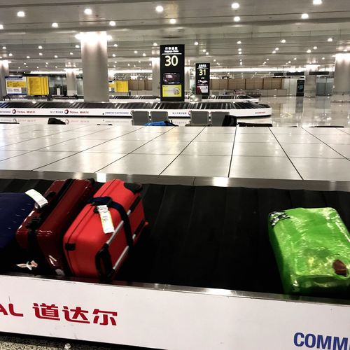 Baggage Claim Red Green Airport Text Illuminated Indoors  No People Technology Day Arriving