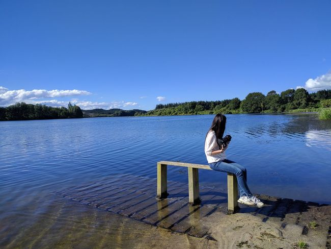 Blue One Person Leisure Activity Sky Scenics No Filter No Filter, No Edit, Just Photography Nature Beautiful Girl Beautiful Place Best EyeEm Shot Lakeside