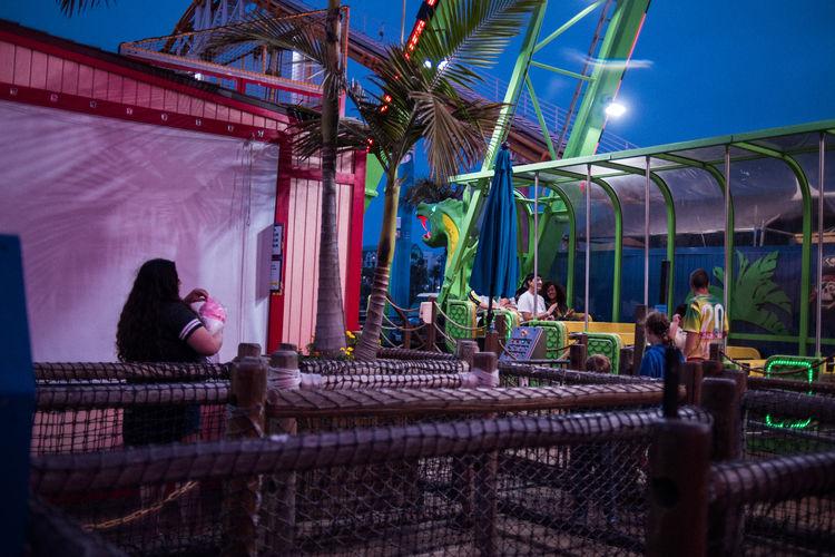 Amusement Park Amusement Park Ride Fun Nightphotography Night Lights Colors Lifestyles Ride Concession Stand adventures in the city City Life Santa Monica Pier Santa Monica Los Angeles, California Restuarant Fast Food