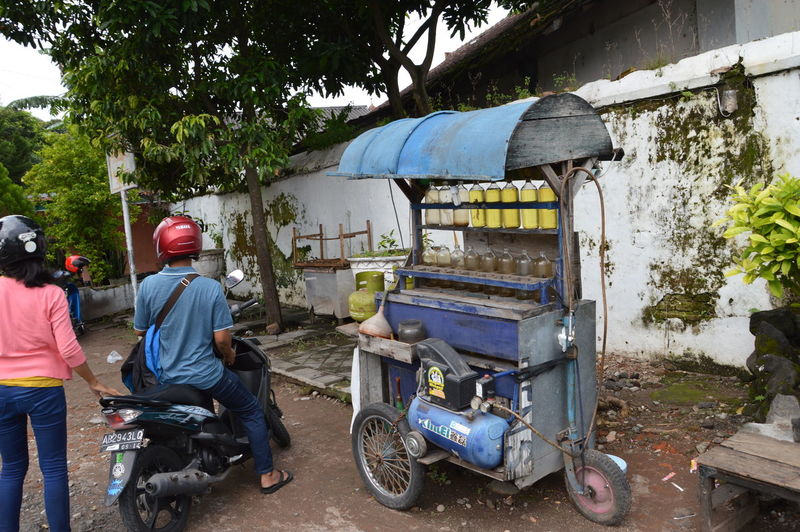 Gas station for motorcycles on Java Travel Java INDONESIA Gasstation