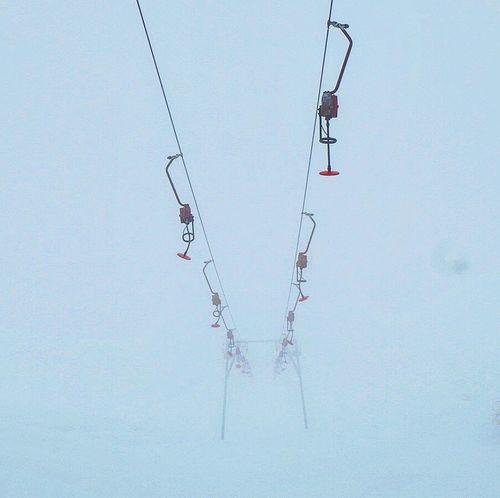 Waiting winter #november #fog #foggy #skilift #autumn #novembre Autumn Mood Bird Hanging Sky Fishing Tackle