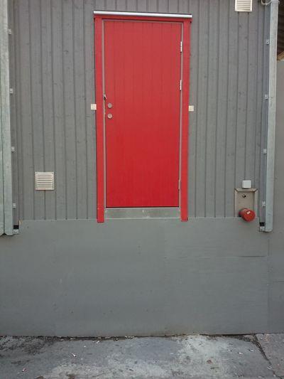 Door Red No