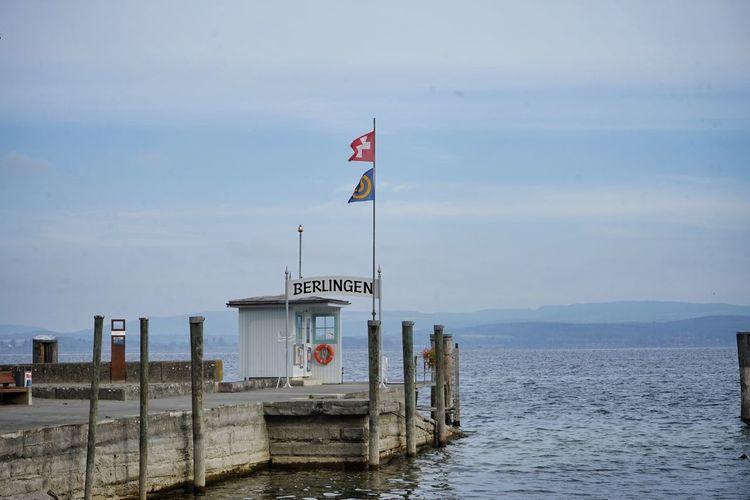 Berlingen Berth Bodensee Bodenseeregion Bootssteg Flag No People Outdoors Thurgau Untersee Water