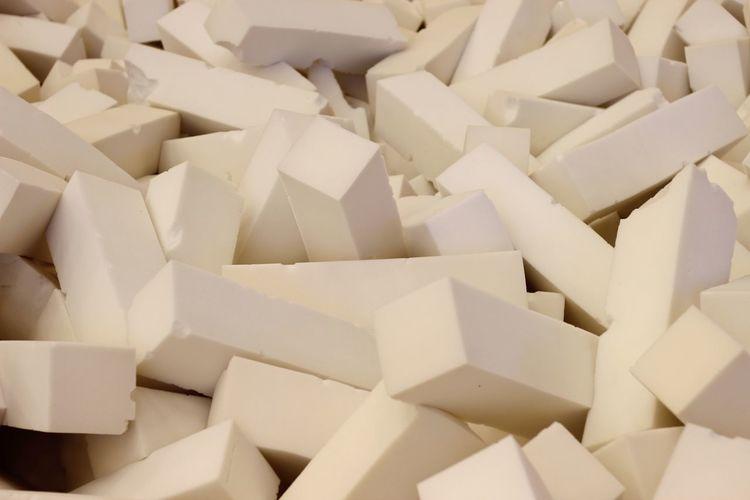 Full frame shot of white objects