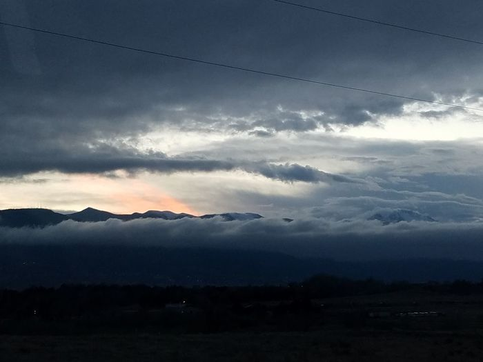 Sunset over the Rockies. Colorado Springs, CO Rocky Mountains