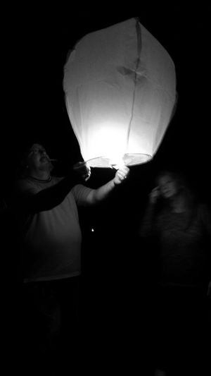Memories Showcase: February Lanterns Lantern Release From My Point Of View Black And White Photography Black And White Darkness And Light