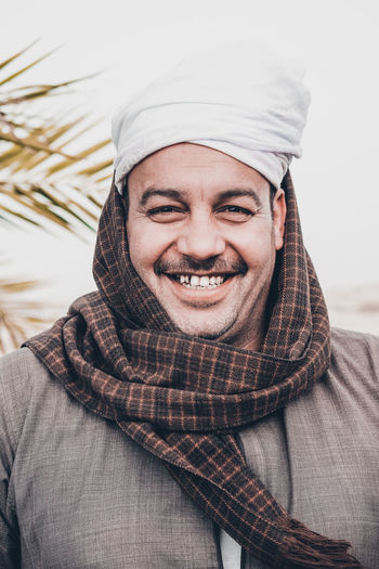 at upper egypt The Fashion Photographer - 2018 EyeEm Awards The Portraitist - 2018 EyeEm Awards The Traveler - 2018 EyeEm Awards Traditional Clothing Adult Clothing Day Emotion Front View Happiness Hat Headshot Lifestyles Looking At Camera One Person Portrait Real People Scarf Smiling Turban Warm Clothing Winter Young Adult Young Men