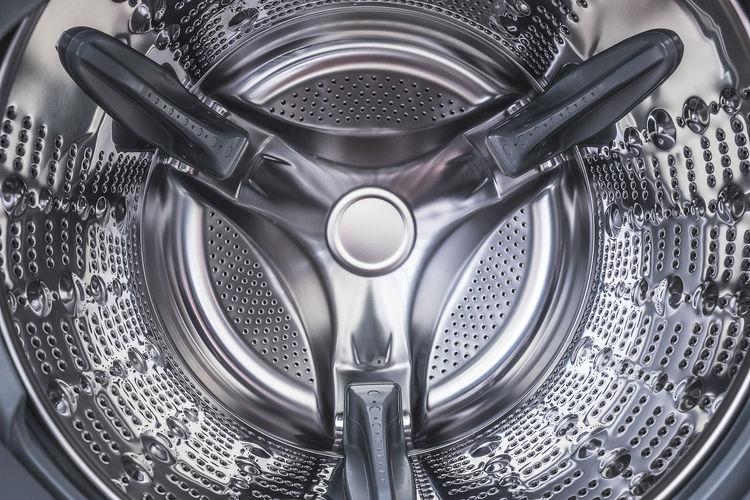 Directly above shot of empty washing machine