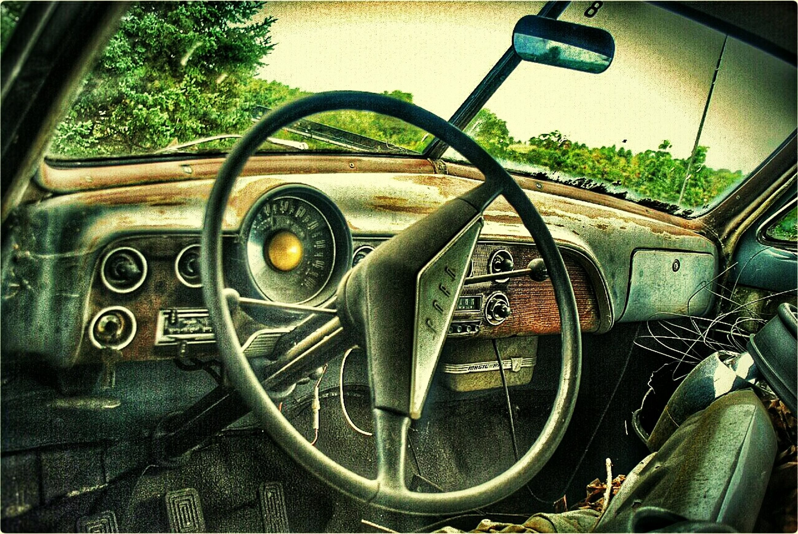 metal, transportation, land vehicle, mode of transport, abandoned, old, obsolete, wheel, metallic, indoors, rusty, old-fashioned, plant, no people, stationary, day, run-down, close-up, damaged, deterioration