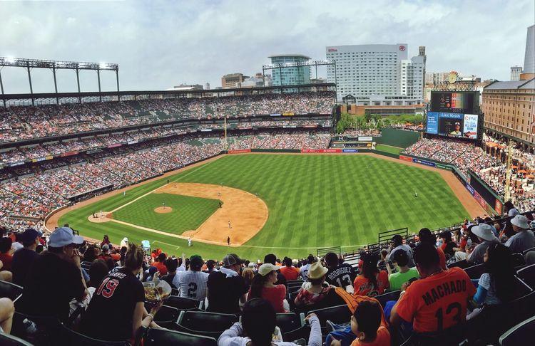 Stadium Crowd Sport Baseball - Sport Fan - Enthusiast Fans Orioles Baseball Orioles Camden Yards CamdenYards Baseball Baseball Game Baseball Field Baseball Fans Baltimore Skyline