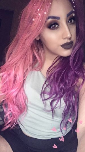 It's been a while.. That's Me Girl Makeup Hair Pink Hair Purple Hair Pink And Purple Hair Snapchat Today's Hot Look
