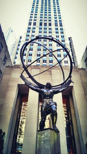 ??? Lee Lawrie Atlas Statue Rockfeller Rockfeller Center Manhattan New York New York City Architecture Art Deco Urban Photography