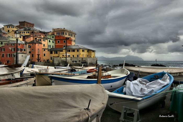 Boccadasse Samsung SamsungNX500 Italy Italia Genova Liguria Mare Barche Sea Nautical Vessel Beach Cloud - Sky No People Outdoors Travel Destinations