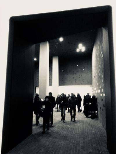 Brick Black And White Elbphilharmonie Hamburg Architecture Indoors