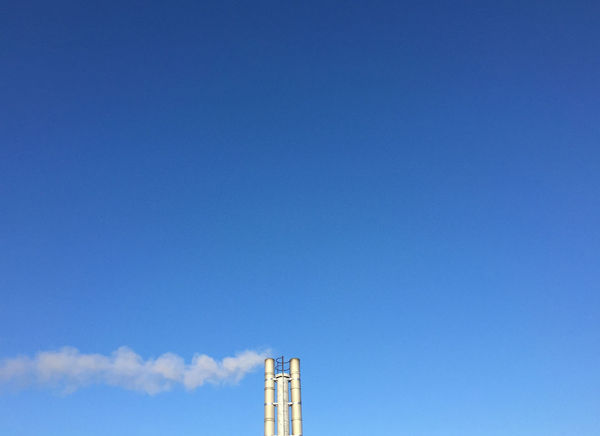 Architecture Blue Chimney Clear Sky Day No People Schornstein Sky Winter