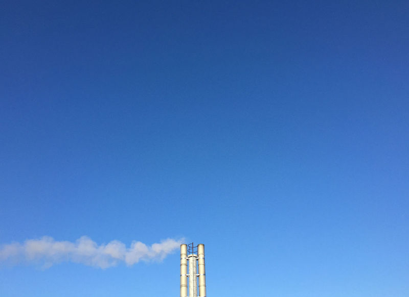 Architecture Blue Chimney Clear Sky Day No People Schornstein Sky Winter