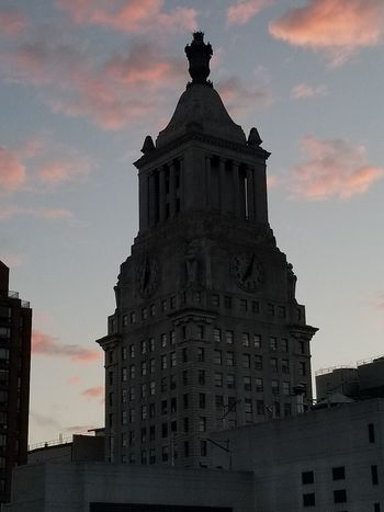 Architecture History Built Structure Building Exterior Sunset Sky Cloud - Sky No People Outdoors Day City Clock Clock Face Unionsquare Union Square  Union Square  Beauty GalaxyS8+ Tranquility Beauty In Nature S8plus Cellphonephotography Justbecause Ynot Nofilter