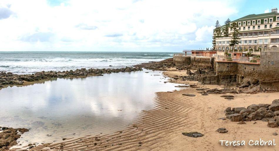 Ericeira Portugal Ericeira PraiaDoSul Ericeira Sea Beach Water Sand Sky Horizon Over Water Cloud - Sky