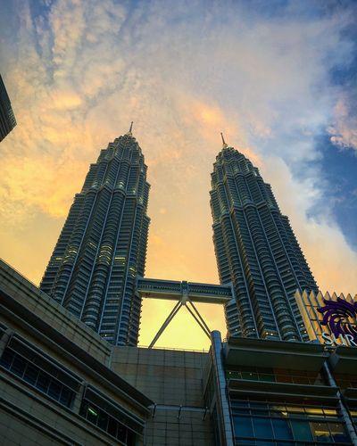 Sunset Building Architecture Malaysia Twintower Kualalumpur Malaysia