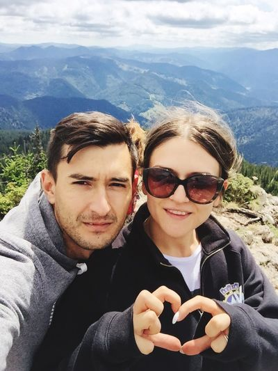 Connected By Travel Mountain Togetherness Beauty In Nature Happiness Young Couple