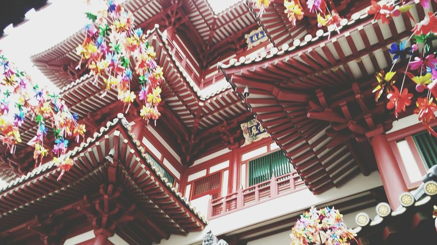 Place Of Worship Worship Buddha Buddha Temple Buddhas Chinatown Chinese New Year Red Architecture Architectureporn Check This Out Roof Colors Of Carnival Colorful