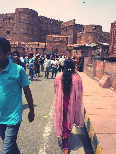 Agra Red Fort People Shahjahan EyeEm Selects Sky Architecture Building Exterior Visiting Historic Ancient Civilization