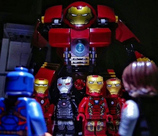 """Stand down. Final Warning."" TeamIronMan LEGO Marvel Civilwar Captainamerica WinterSoldier Ironman Warmachine Minifigures Toyphotography Toyphotogallery"