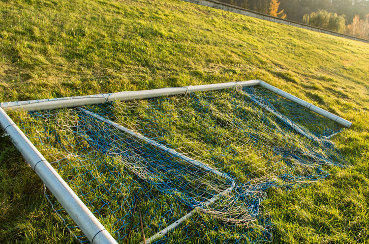 Football Beauty In Nature Crossbar Day Field Goal Grass Growth High Angle View Landscape Nature No People Outdoors Tree