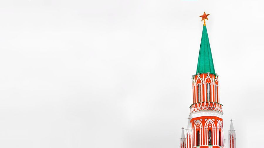 Copy Space Built Structure Architecture No People Tower Red Building Exterior Sky Clear Sky Building Outdoors Decoration Low Angle View Celebration Nature Travel Destinations Day White Color Spire