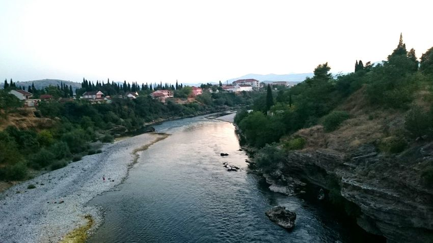 Beauty Of Montenegro Riverside River View Riverbank River Trees Summer2015 Hot Weather EyeEm Nature Lover Nature Naturelovers Mountains On The Bridge Across The River Enjoying The View