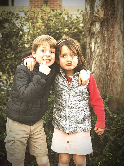 Brother & Sister Missing Tooth Outdoors Childhood Friendship Happiness Two People