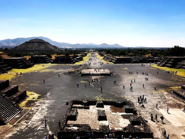 Feel the spirit, talk to wind Teotihuacan Aztecs Mexico