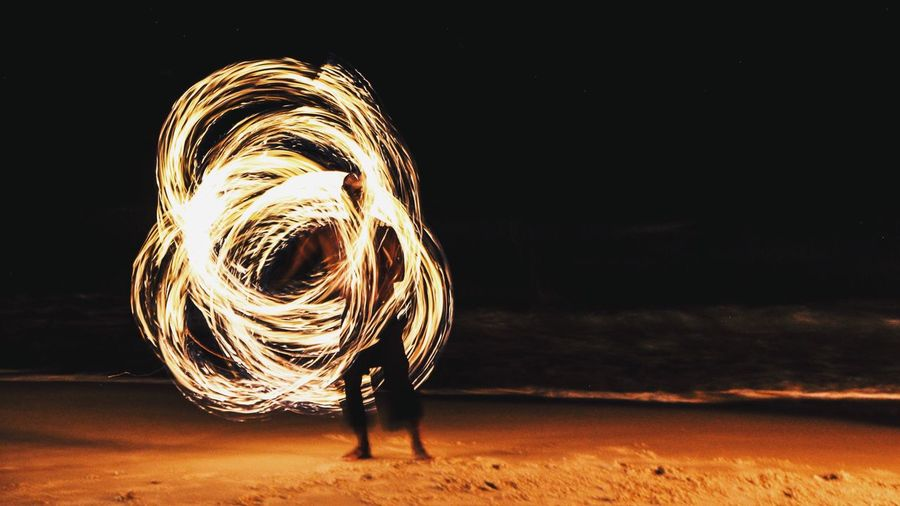 Fire show on