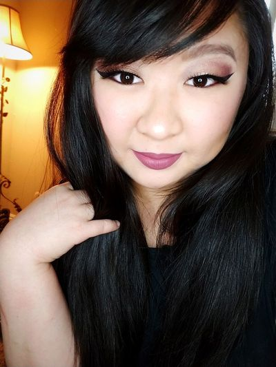 love yourself. Jeffreestarcosmetics Asian Girl Selfie Makeup Androgynylipstick Looking At Camera Portrait One Person Indoors  Beautiful Woman People Close-up Smiling