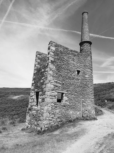Tin mine Wheal Prosper Tin Mine Blackandwhite Cornish Coast Cornish Heritage History Sky Built Structure Nature Cloud - Sky Land Architecture Day Low Angle View Outdoors Building Exterior Environment British Culture