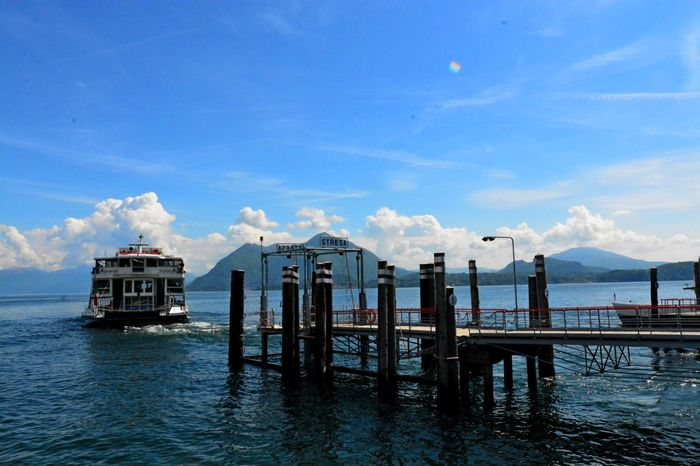 Stresa Italy Architecture Beauty In Nature Blue Built Structure Cloud - Sky Day Nature Nautical Vessel No People Outdoors Scenics Sea Sky Tranquil Scene Tranquility Water Waterfront