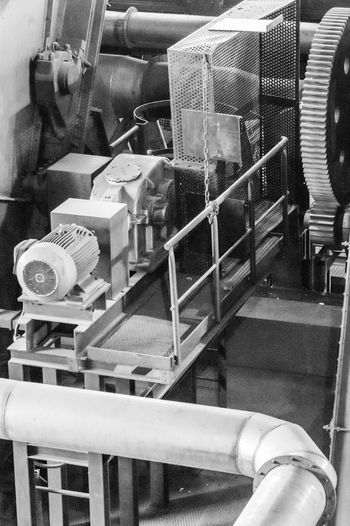 Gear Catwalk Industry Blackandwhite Machinery Electrical Equipment Electric Motor Pipework Steps And Staircases Indoors  Day No People Indoors