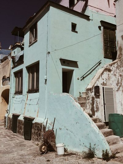 Southitaly Shabby Procida Building Exterior Built Structure Architecture Building Day Nature No People Residential District House Land Abandoned Window Outdoors Drying Sky Transportation City Sunlight