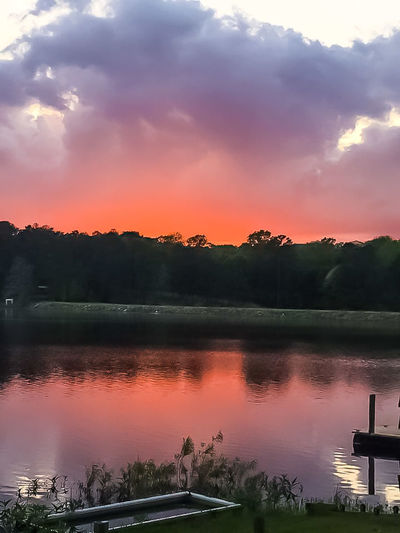 Sunset Lake Sky Landscape Reflection Nature Water Outdoors Sunlight Cloud - Sky Tree Beauty In Nature No People Boat Nautical Vessel Milky Way Galaxy Day Shoreline Nautical Theme Lake Copiah Waterline Silhouette Reflection Boats