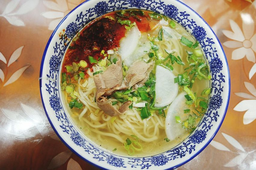 Langzhou noodles Food And Drink Food Indoors  Freshness Serving Size Healthy Eating