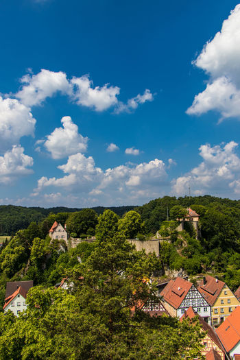 Betzenstein Germany Wanderung Wanderwege Bavaria Schöneausicht Sommer Grün Tree House Sky Architecture Building Exterior Landscape Cloud - Sky Built Structure Roof Tile TOWNSCAPE Town Crowded Old Town Place Townhouse Tranquil Scene
